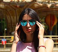 """Женские солнцезащитные зеркальные очки в серебряной оправе """"Dior Monster"""", фото 1"""