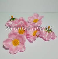 Цветок яблони, 4 см, цвет св.розовый, атлас