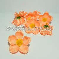 Цветок яблони, 4 см, цвет персиковый, атлас