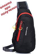 Чоловіча спортивна тканинна сумка рюкзак бананка через плече KEEP WALKING