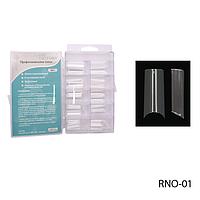 Прозрачные прямоугольные прямые типсы RNO-01 (по 100 шт)