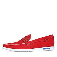 Красные замшевые мокасины EUROMODA 1YF6-7-104/P