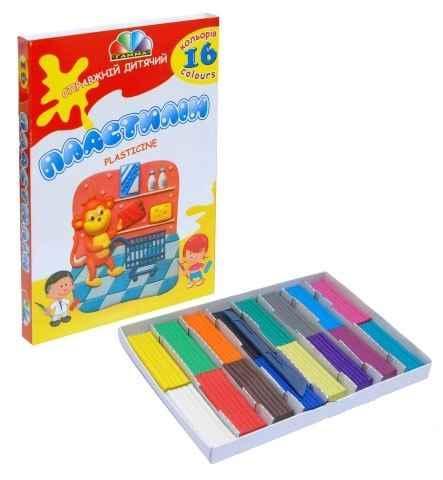 Пластилін Захоплення Гамма 331012, 16 кольорів, 320 г