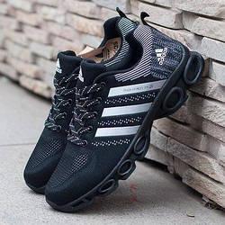 Кроссовки Adidas Marathon TR 26 Black Черные мужские реплика
