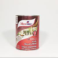 Эмаль  акриловая Maxima для дерева и металла (0,75л)