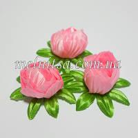 Бутон магнолии на цветолистике, 3,5 см, цвет розовый, 1 шт.