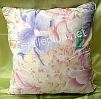 Подушка 70*70 шариковый селикон ткань тик