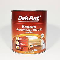 Эмаль ПФ-266  алкидная для пола Декарт красно-коричневая (2,8кг)