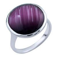 """Серебряное кольцо с кошачьим глазом """"Фиолет"""""""