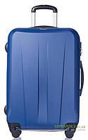 Дорожный чемодан из ABS пластика на 4-х колесах (средний) Puccini Paris 7922 синего цвета