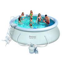 Надувной бассейн Bestway 57242 (457х122) с песочным фильтром