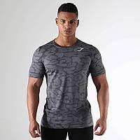 Сіра чоловіча спортивна футболка