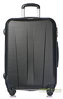 Дорожный чемодан из ABS пластика на 4-х колесах (большой) Puccini Paris 7924 черного цвета