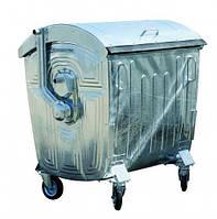 Мусорный контейнер 1100 л оцинкованный