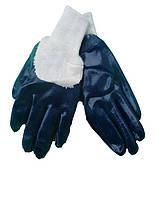 Перчатки х/б с нитрильным покрытием,вязаная манжета