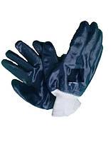 Перчатки х/б с полным нитрильным покрытием,вязаная манжета