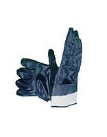 Перчатки х/б с нитрильным покрытием, твердая манжета