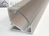 Светодиодный алюминиевый LED профиль ЛПУ 17 анодированный серебро