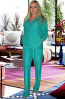 Махровый костюм (кофта и брюки) (Зеленый)