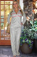 Махровый костюм (кофта и брюки) (Серый)