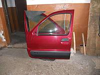 Дверь передняя левая бордовая на Renault Kangoo