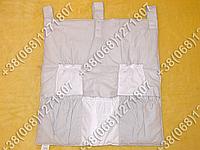 Карман органайзер 65х60 см для аксессуаров на детскую кроватку, серые расцветки