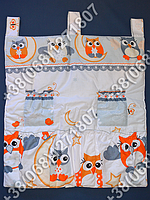 Карман органайзер 65х60 см для аксессуаров на детскую кроватку (серые расцветки)