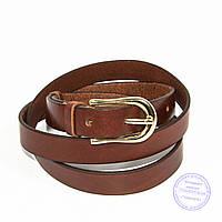 Кожаный ремень коричневый - B-F3-5-2