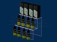 Горка под жидкости для электронных сигарет 200х165 мм, акрил 1,8 мм, фото 1