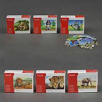 Деревянная игра пазлы животные 16,5Х12см 24 дет. 6 видов