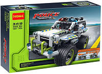 """Конструктор Decool 3418 (аналог Lego Technik 42047) """"Полицейский патруль"""", 185 деталей"""