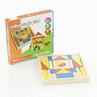 Деревянная игра конструктор строим теремок развивающая от 3 лет в коробке