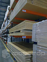 Консольные стеллажи для хранения листов до 500 кг на консоль.