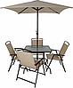 Набор садовой мебели George Home Miami 6 Piece Patio Set - Brown&Linen