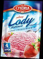 Порошок для приготування морозива Lody domowe Cykoria полуниця 60гр., фото 2