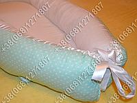 Детский кокон позиционер для новорожденных, салатовые расцветки