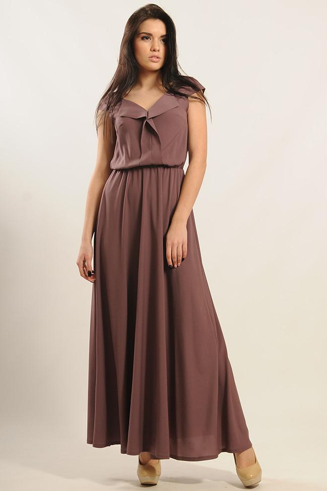 Платье Мира-Макси Ри Мари баклажан
