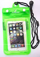 "Водонепроницаемый чехол TravelSky B5 для смартфона с диагональю экрана до 5"" Green"