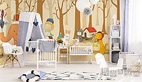 """Детские 3D фотообои """"Тимка и зверюшки"""""""