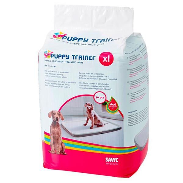 Savic ПАППИ ТРЭЙНЕР (Puppy Trainer) пеленки для собак, XL, 90х60 см 30шт