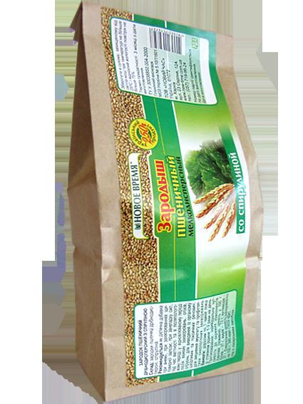 Зародыши пшеницы со спирулиной - поливитаминное, общеукрепляющее средство, при анемии Новое время, 250г Эконом
