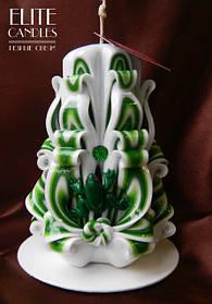 Зеленая свеча для магического денежного ритуала привлечения денег