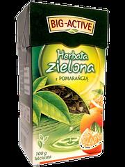 """Чай зеленый Big Active """"Апельсин"""" 100г Польша"""