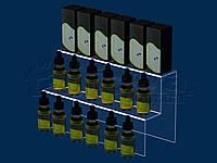 Горка под жидкости для электронных сигарет 300х165 мм, акрил 1,8 мм, фото 1