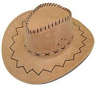 Шляпа ковбоя замшевая (коричневая) 170216-349
