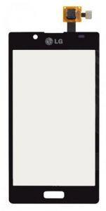 Тачскрин сенсор LG P700, P705, P750 Optimus L7 черный (HQ)