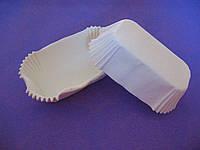Тарталетки (капсулы) бумажные для кексов, капкейков Белые 100*35*30 мм