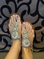Босоножки Шамбала Silver на плоской подошве, босоножки очень удобные и мягкие эко-кожа