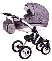 Универсальные коляски Adamex  модель коляска 2 в 1 adamex aspena 650K серый(плетение)-серый
