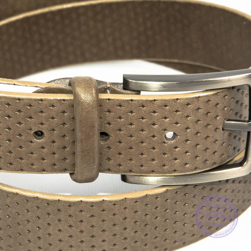 Кожаный мужской классический коричневый ремень - B-M4-8-2, фото 2